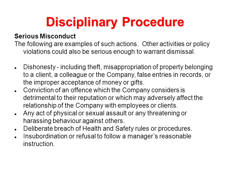 Disciplinary And Grievance Procedures Template Gallery - Template ...