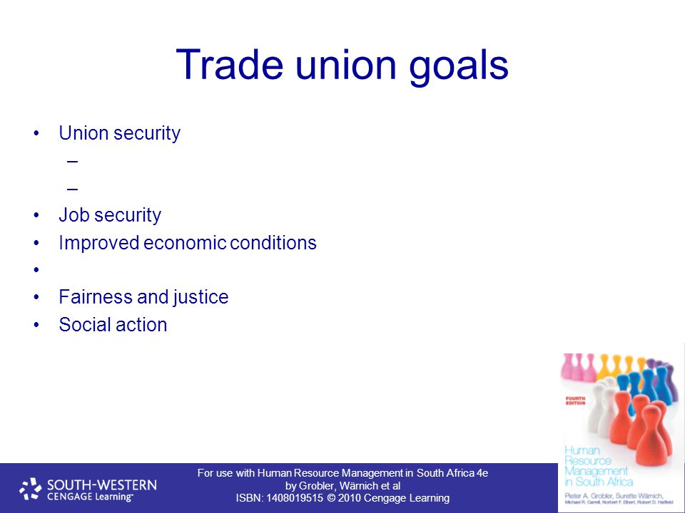 Trade union goals Union security Job security