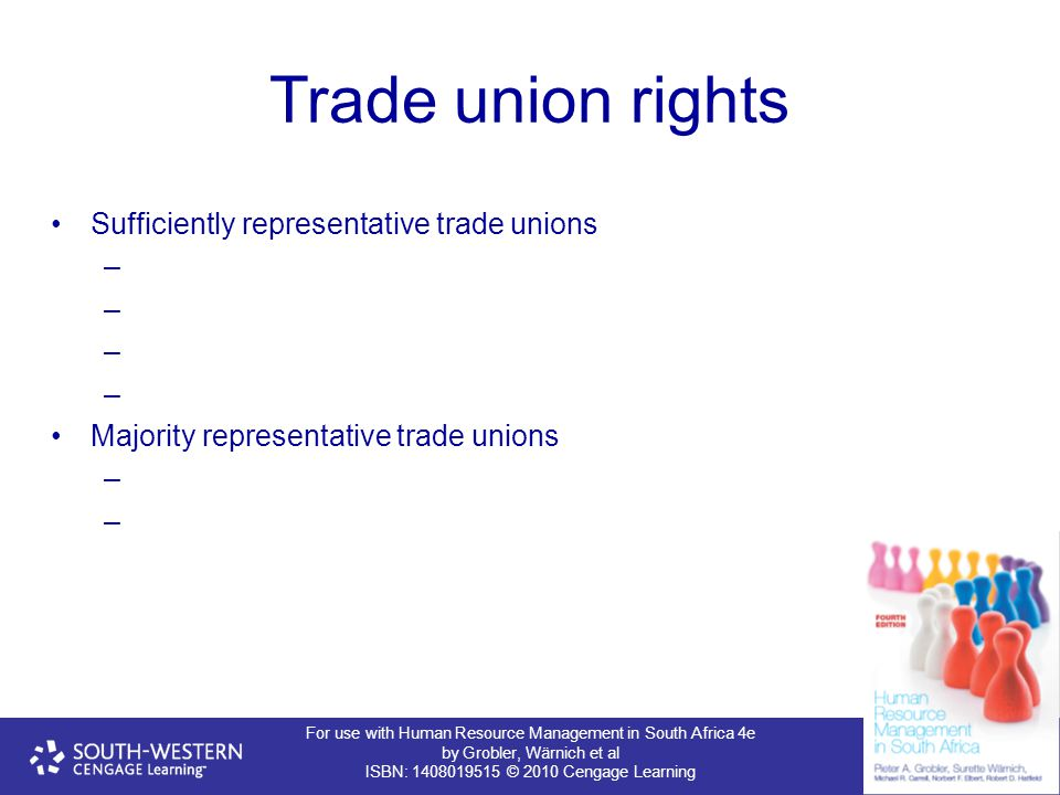 Trade union rights Sufficiently representative trade unions