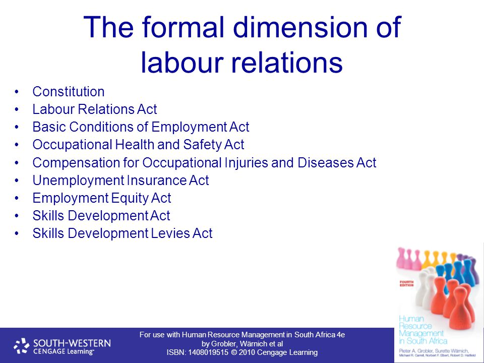 The formal dimension of labour relations