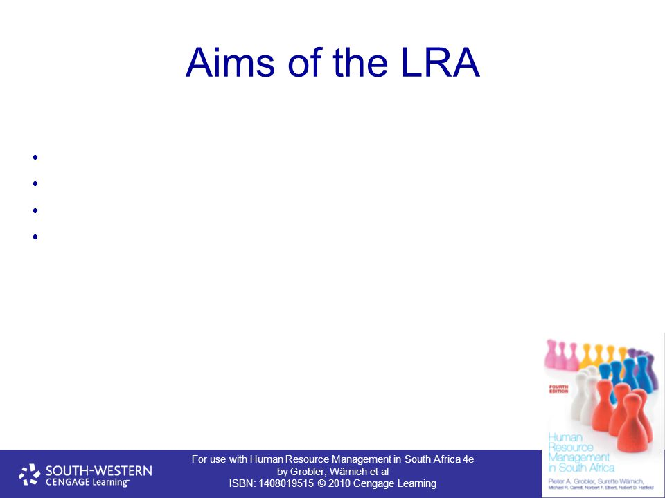 Aims of the LRA 20