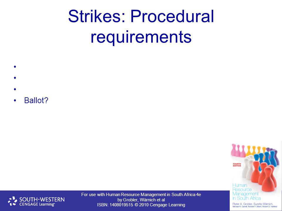 Strikes: Procedural requirements