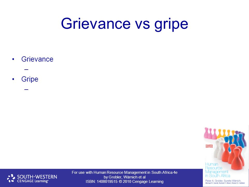 Grievance vs gripe Grievance Gripe 39
