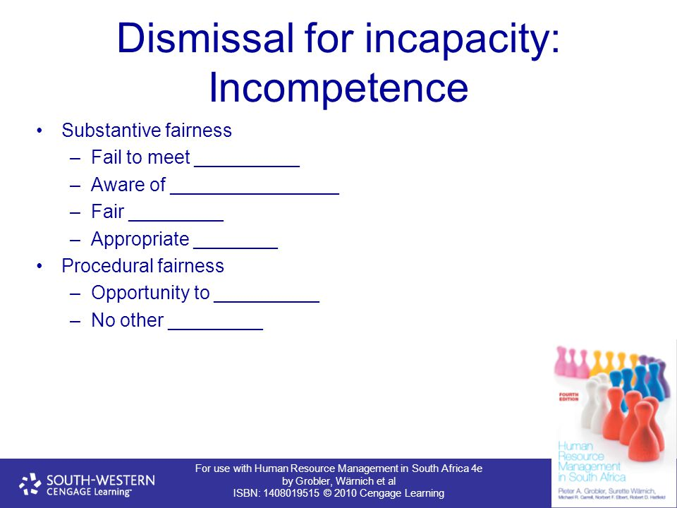 Dismissal for incapacity: Incompetence