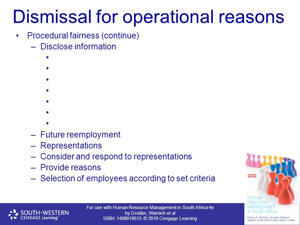 Dismissal for operational reasons