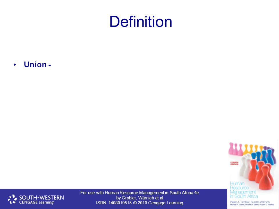 Definition Union - 6