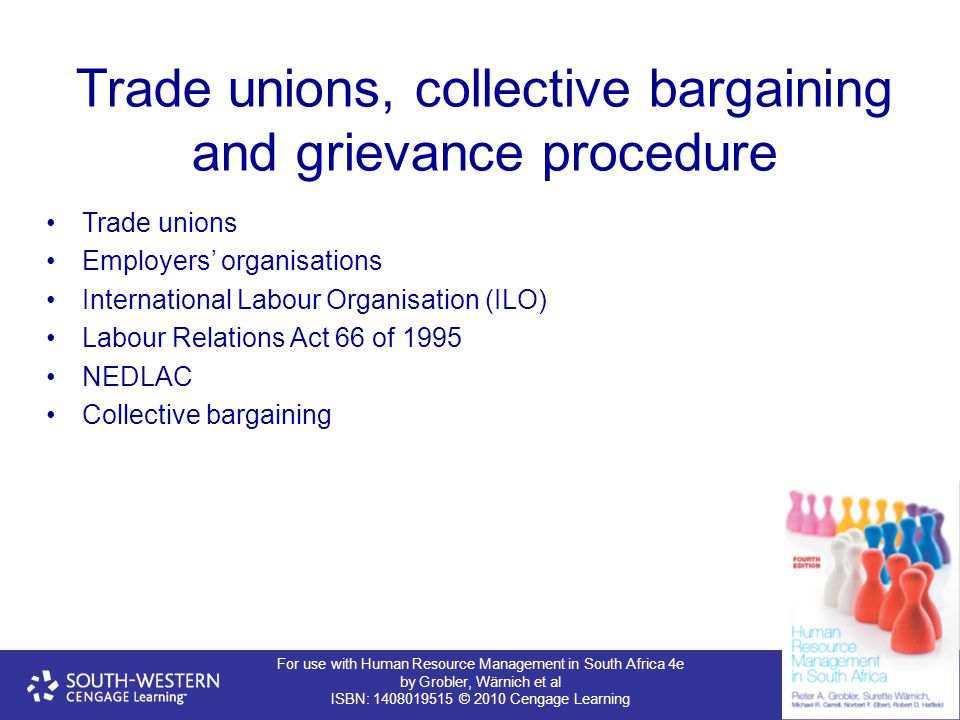 Trade unions, collective bargaining and grievance procedure