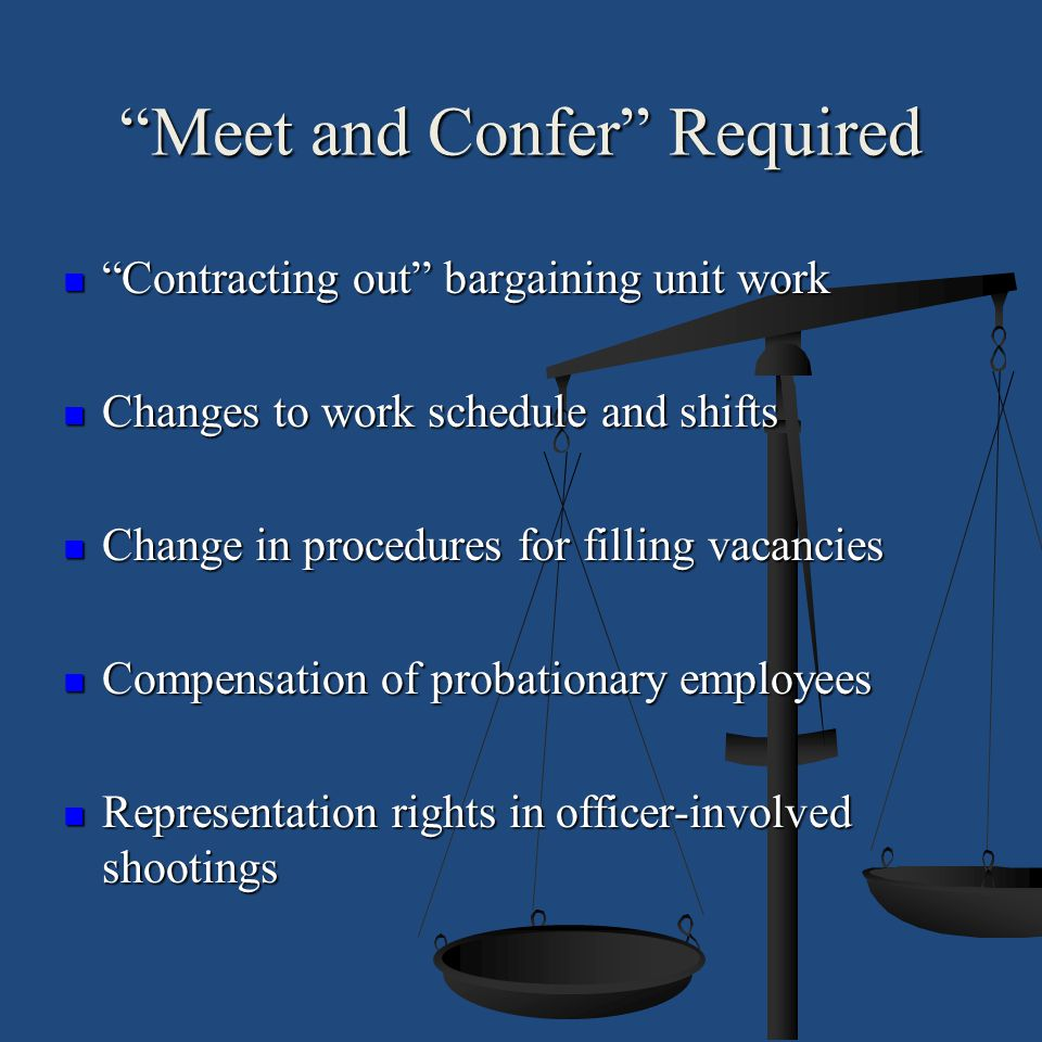 Meet and Confer Required
