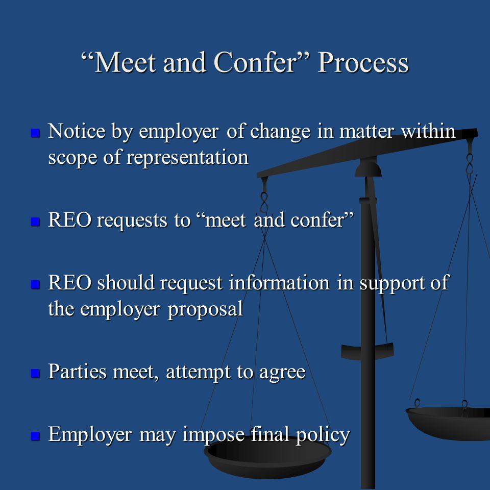 Meet and Confer Process