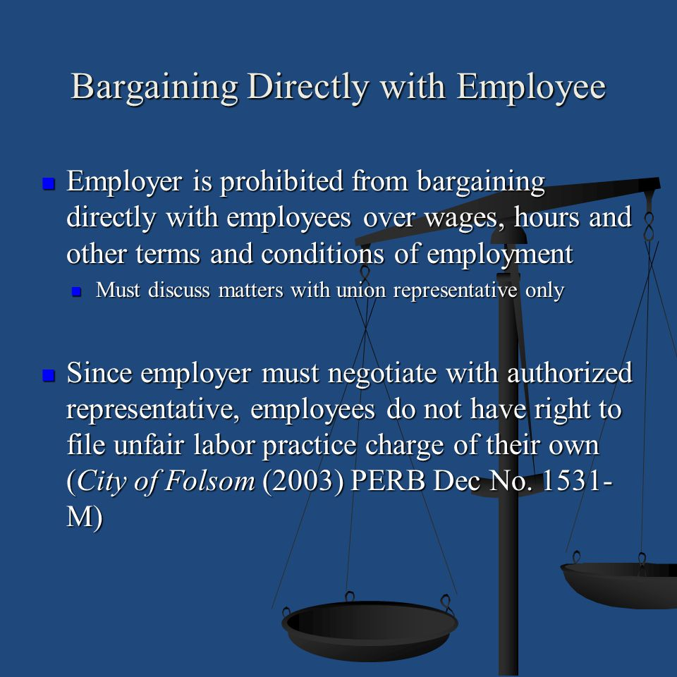 Bargaining Directly with Employee