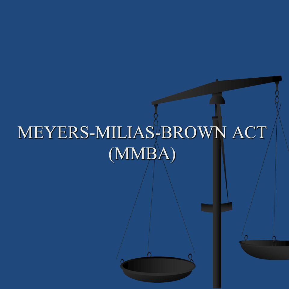 Meyers-Milias-Brown Act (MMBA)