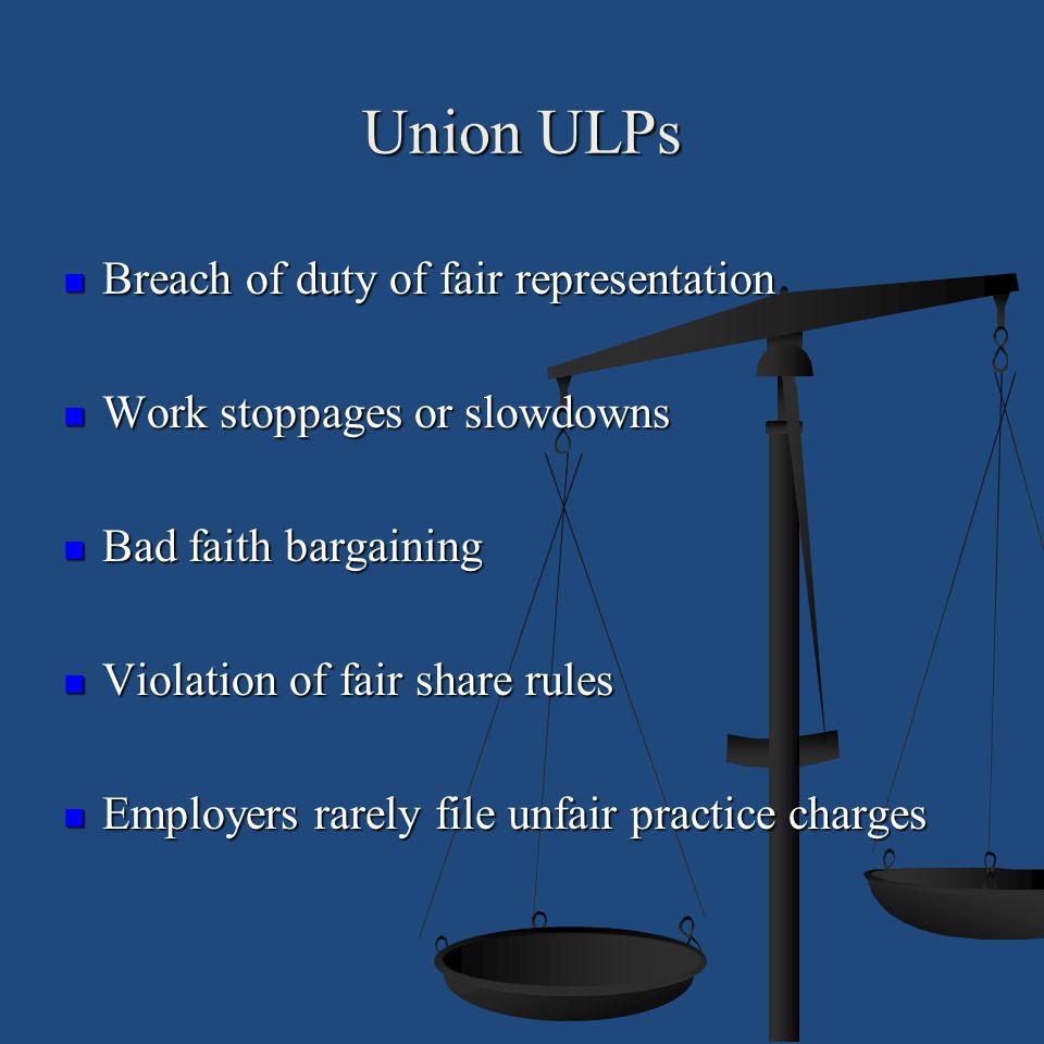 Union ULPs Breach of duty of fair representation