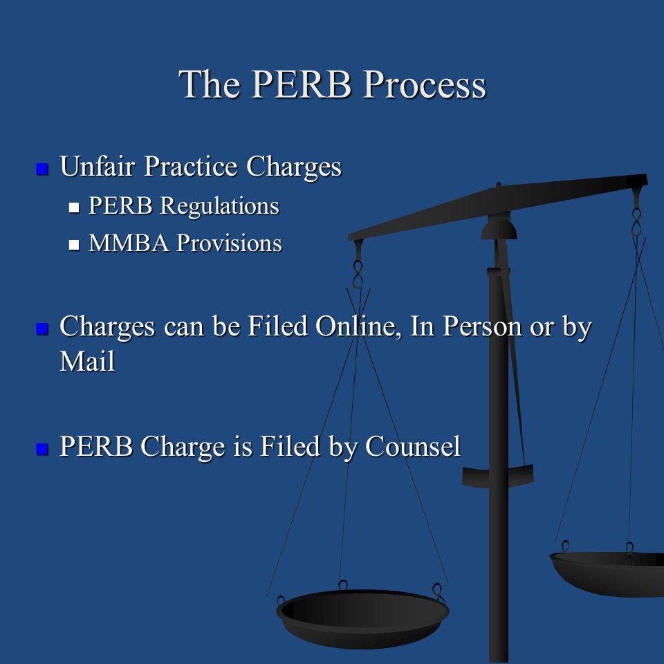 The PERB Process Unfair Practice Charges