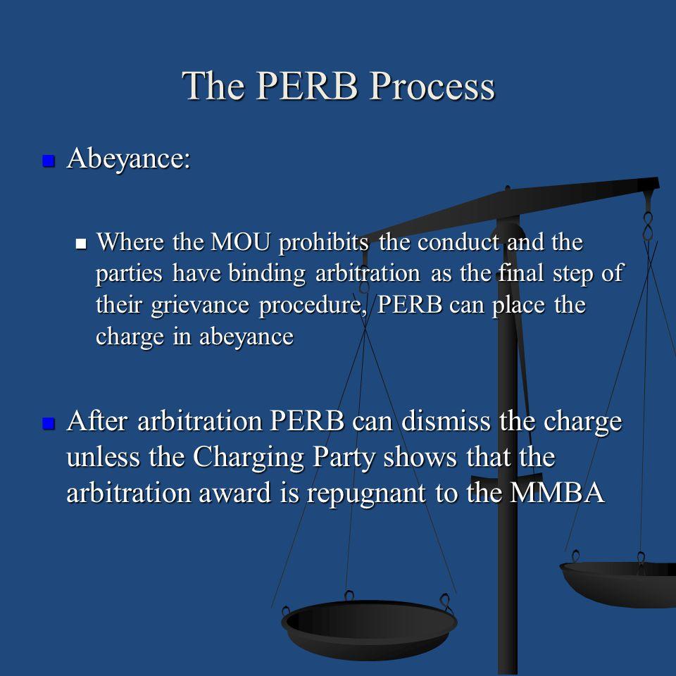 The PERB Process Abeyance:
