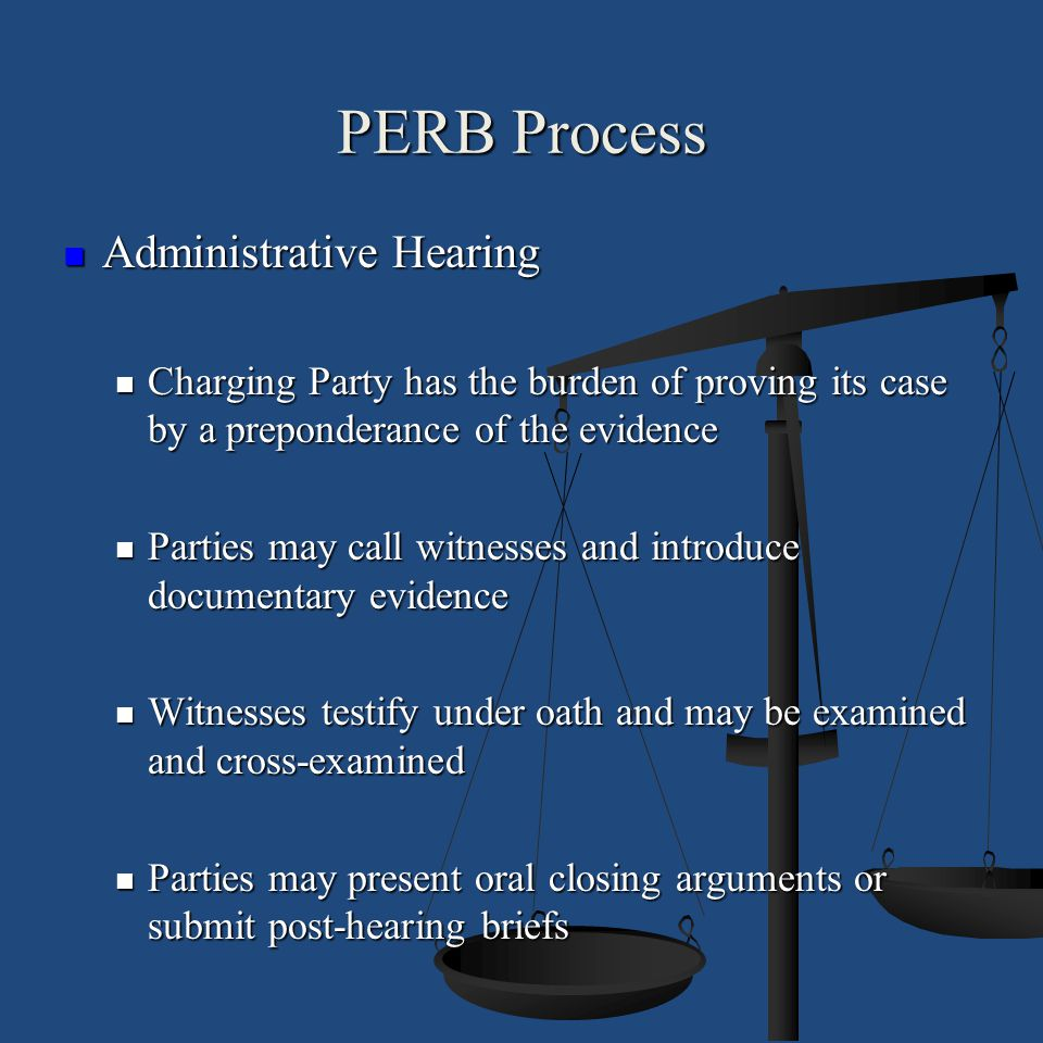 PERB Process Administrative Hearing