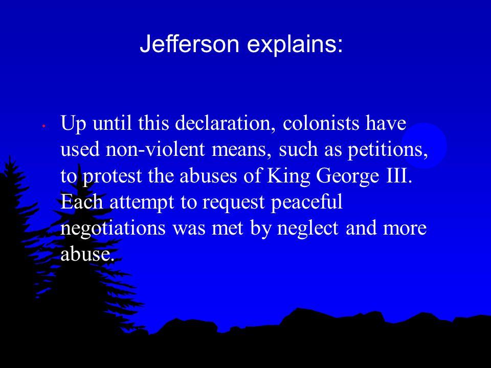 Jefferson explains: