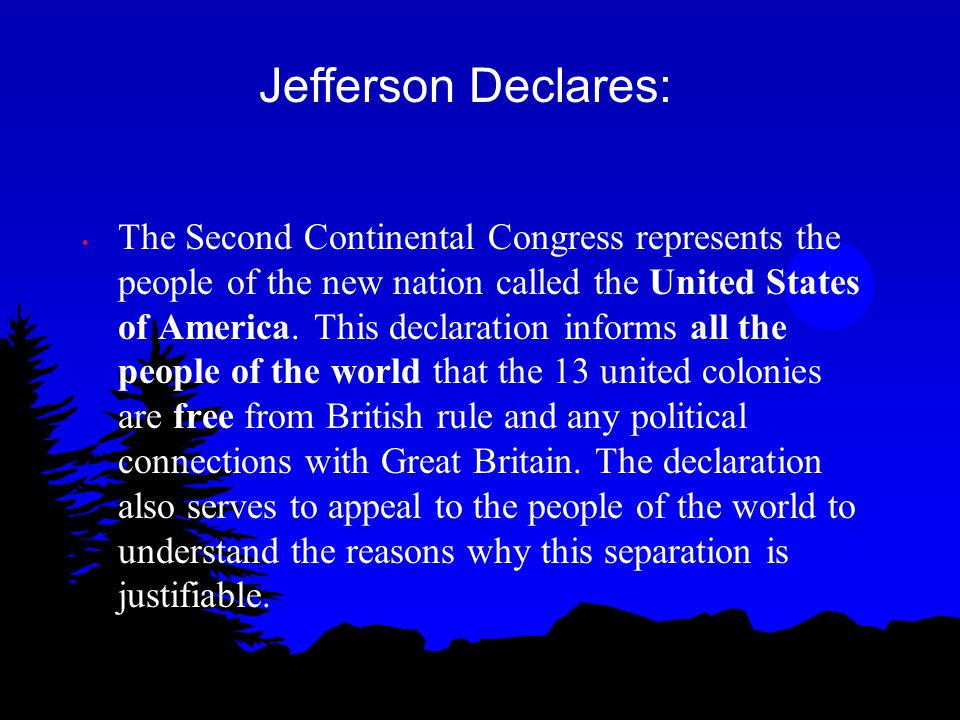 Jefferson Declares: