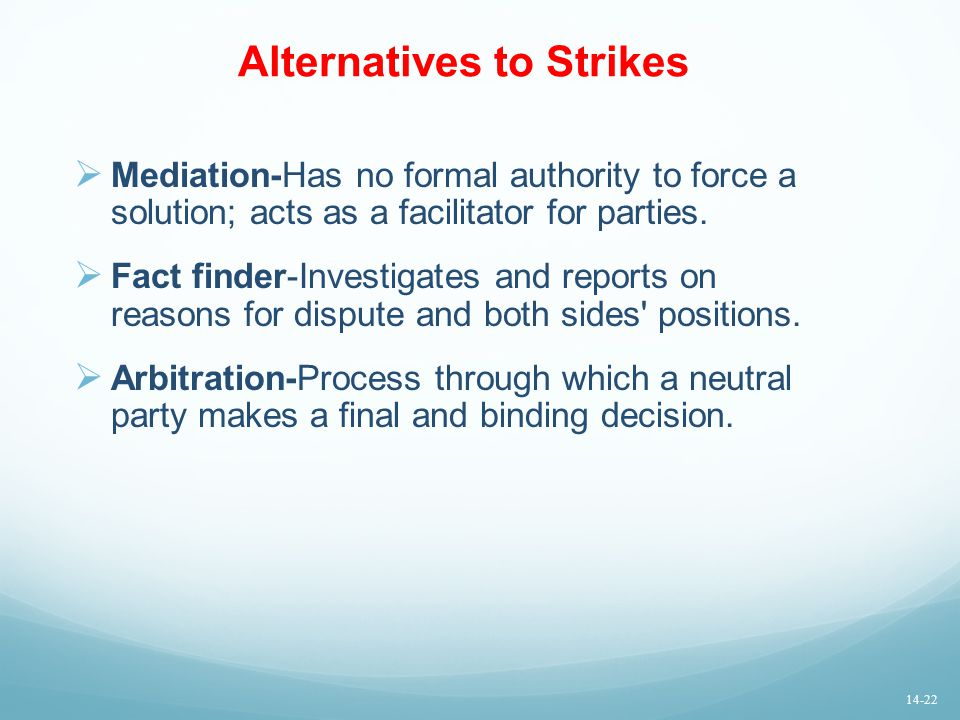 Alternatives to Strikes