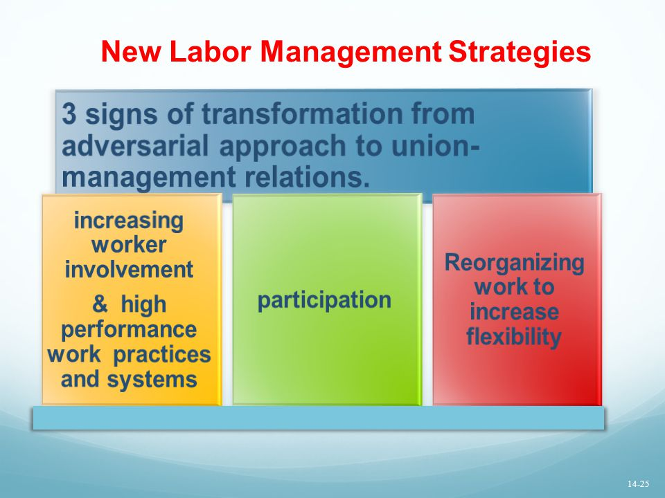 New Labor Management Strategies