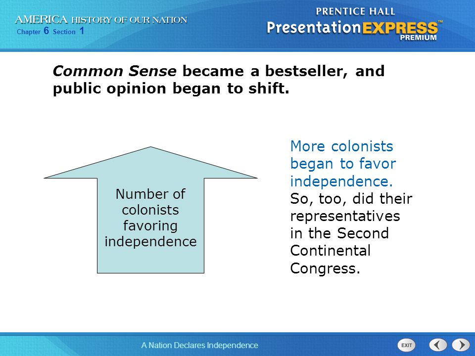 Common Sense became a bestseller, and public opinion began to shift.