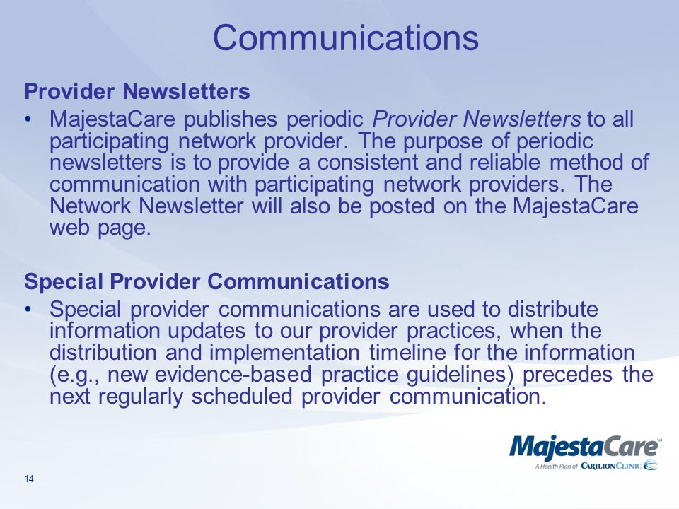 Communications Provider Newsletters