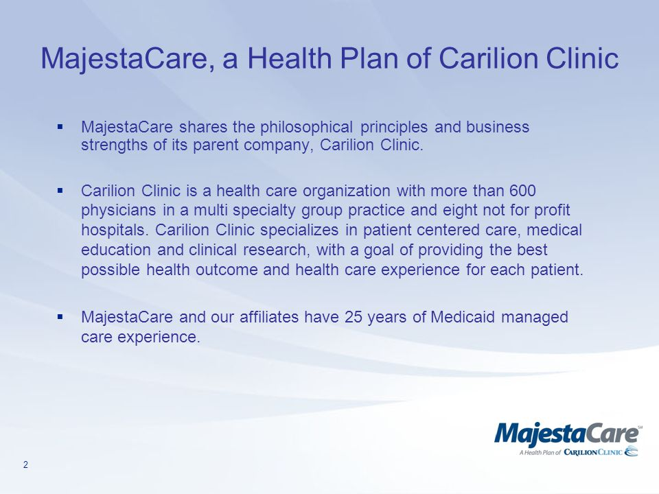 MajestaCare, a Health Plan of Carilion Clinic