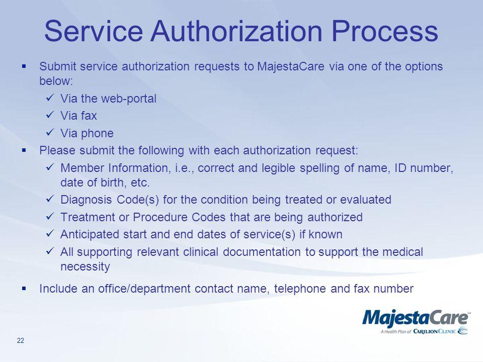 Service Authorization Process