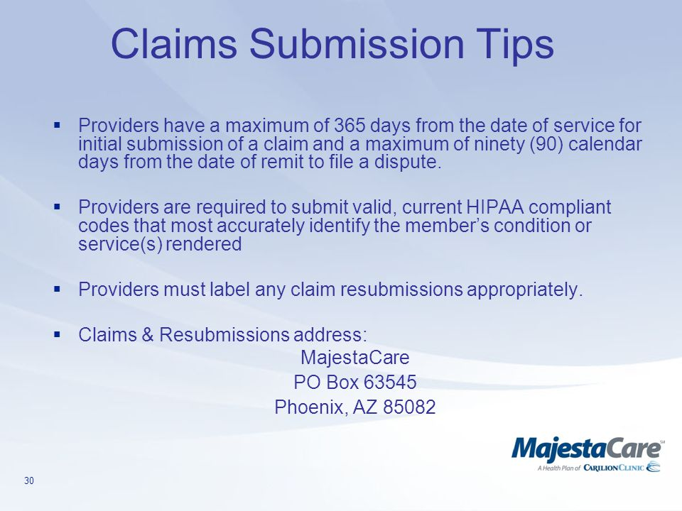 Claims Submission Tips