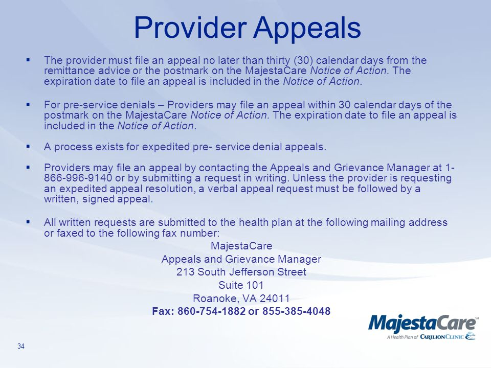 Provider Appeals