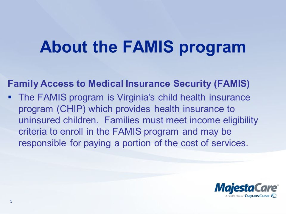 About the FAMIS program