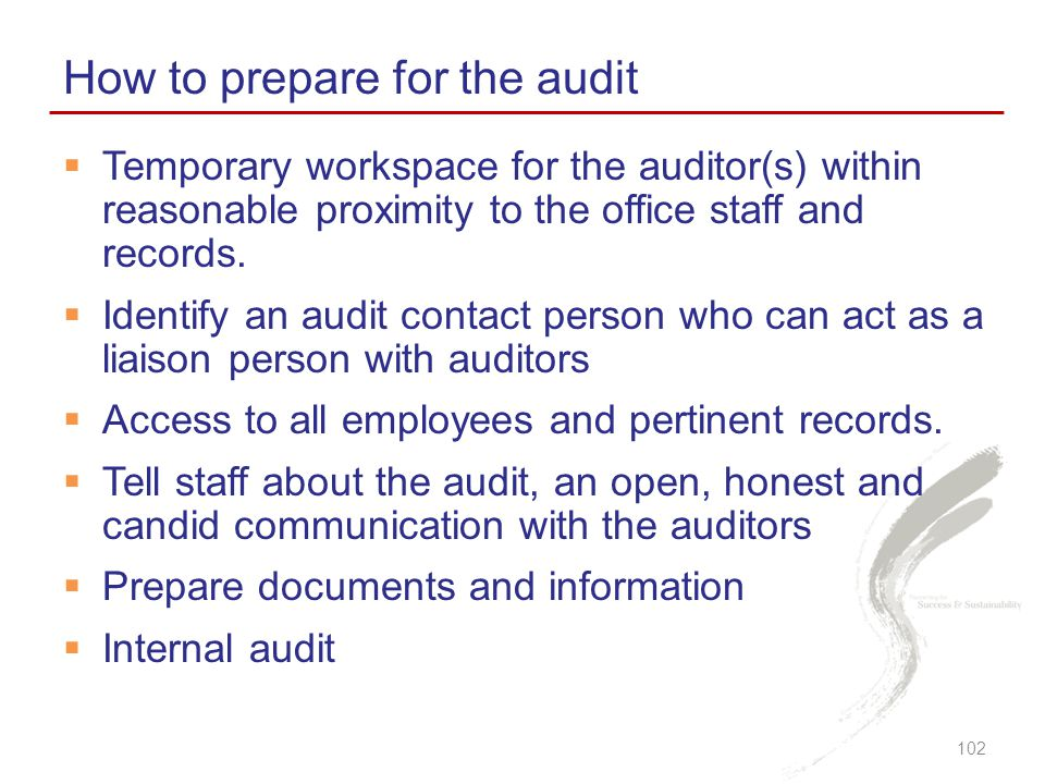 How to prepare for the audit