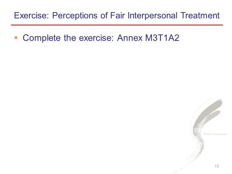 Complete the exercise: Annex M3T1A2