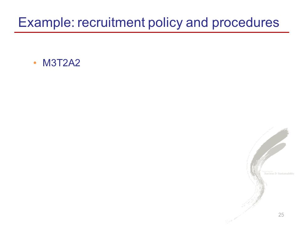 Example: recruitment policy and procedures