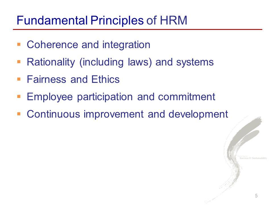 Fundamental Principles of HRM