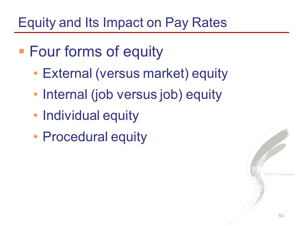 Four forms of equity Equity and Its Impact on Pay Rates