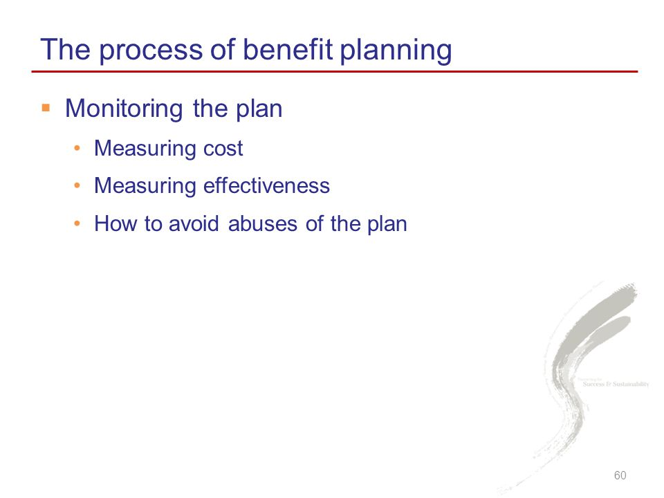 The process of benefit planning