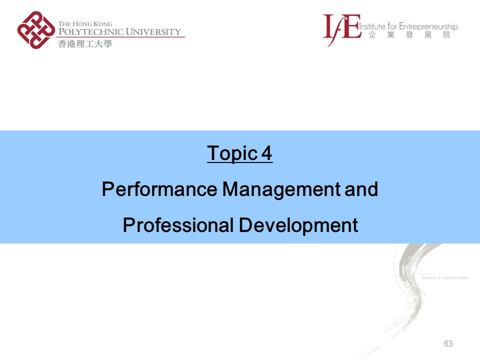 Performance Management and Professional Development