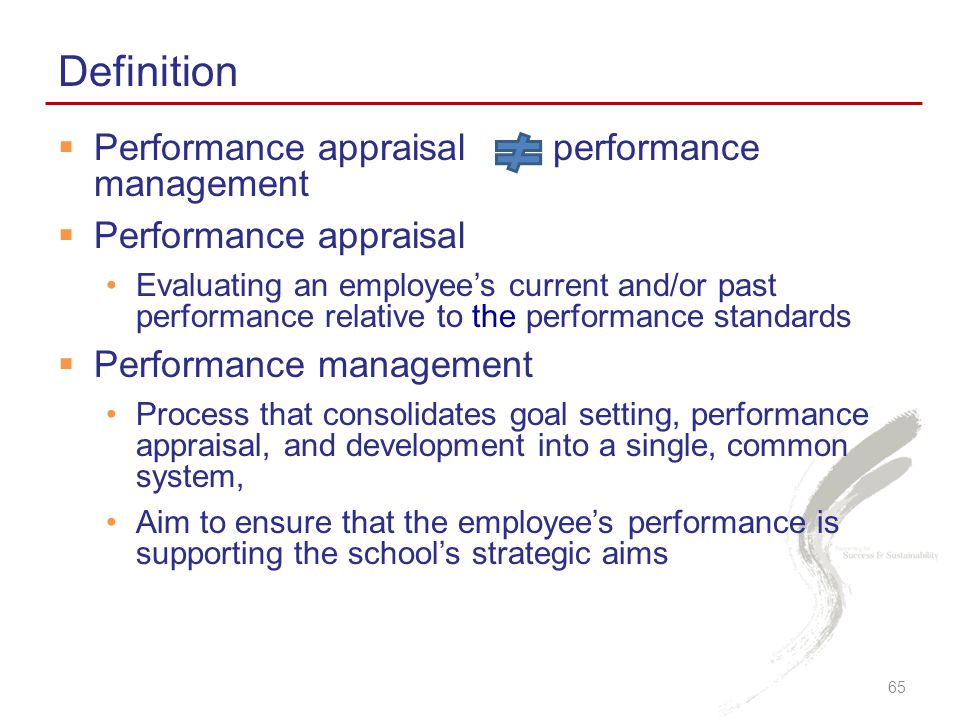 Definition Performance appraisal performance management