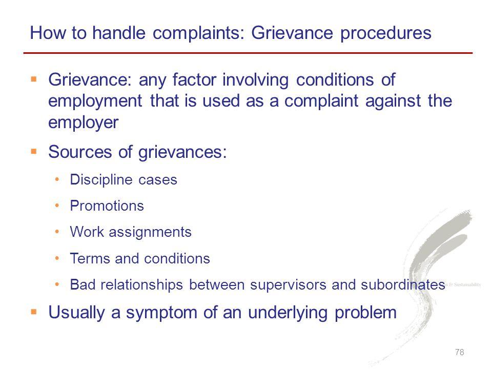 How to handle complaints: Grievance procedures