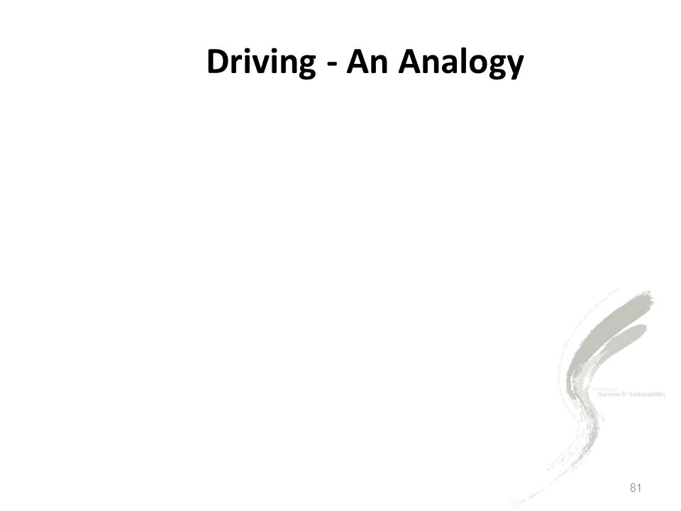 Driving - An Analogy