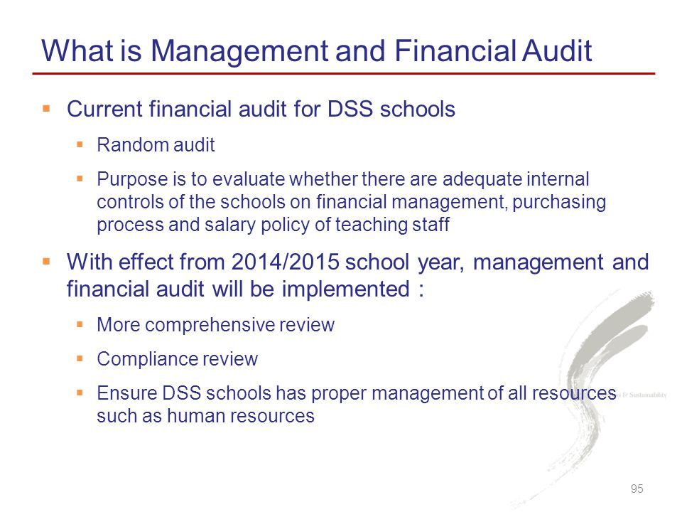 What is Management and Financial Audit