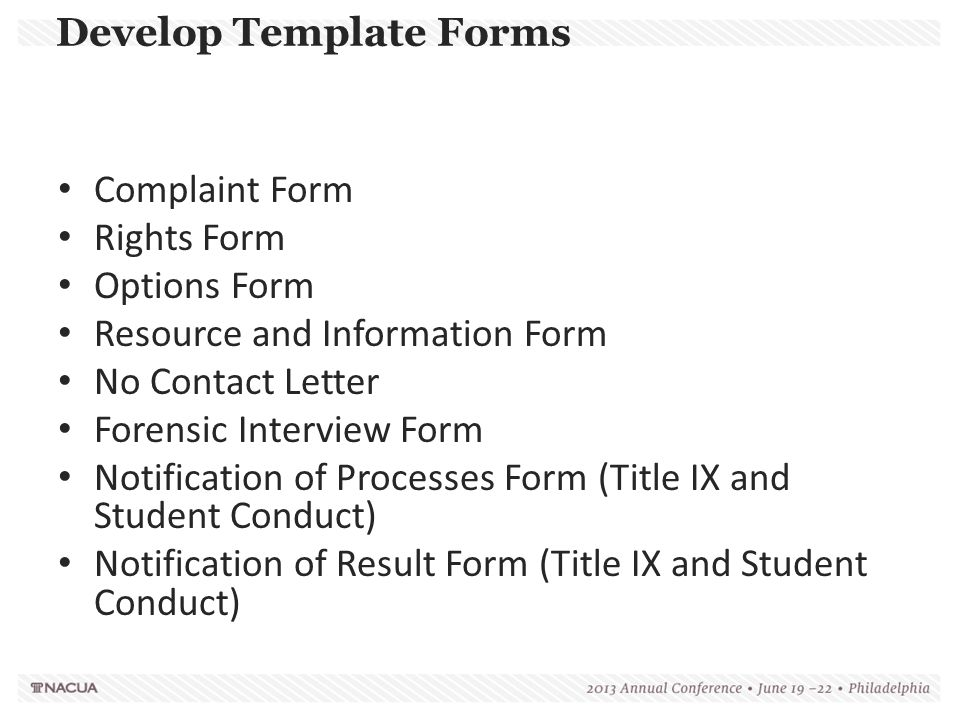 Develop Template Forms