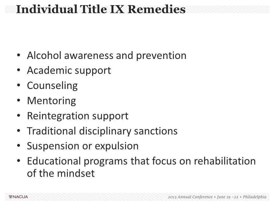 Individual Title IX Remedies