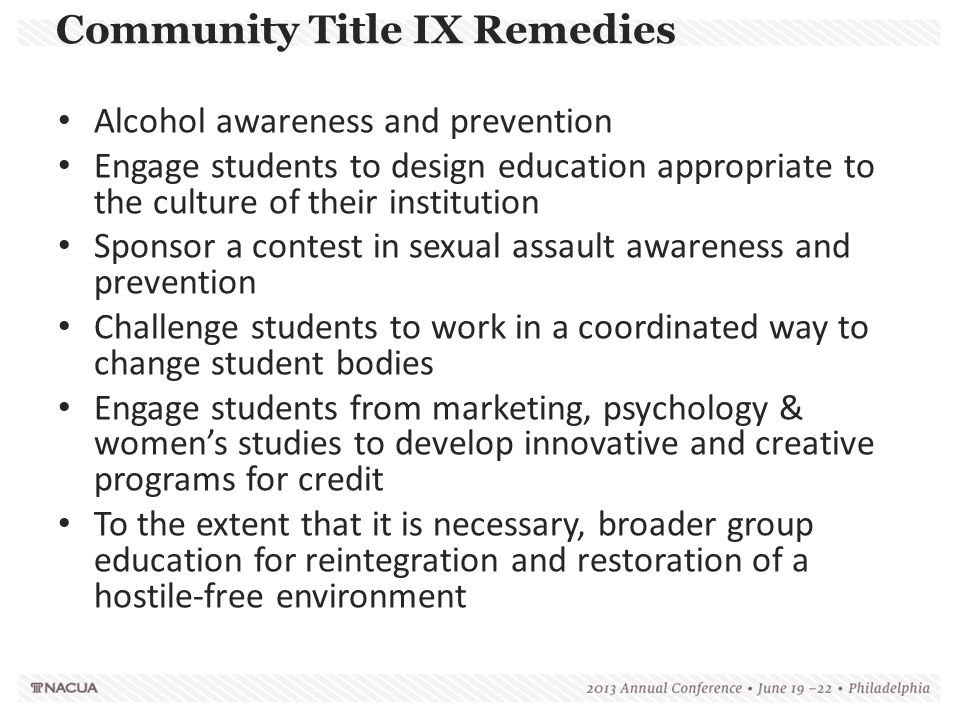 Community Title IX Remedies
