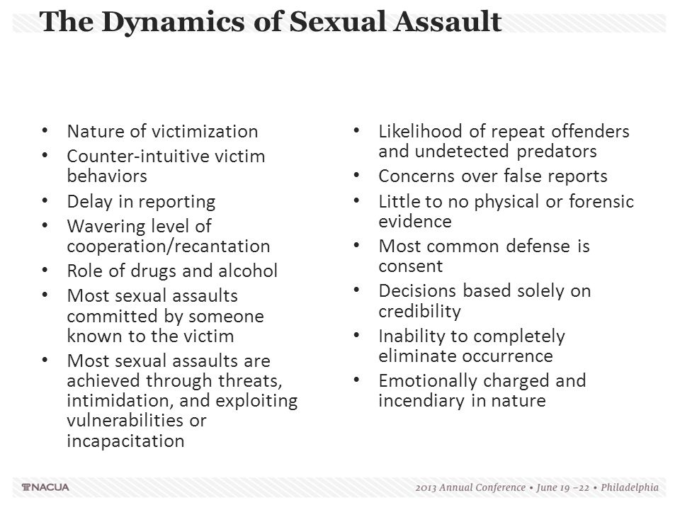 The Dynamics of Sexual Assault