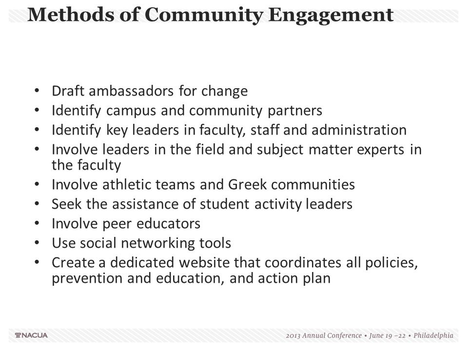 Methods of Community Engagement
