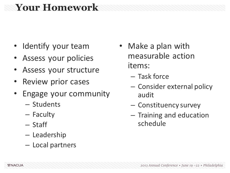 Make a plan with measurable action items: