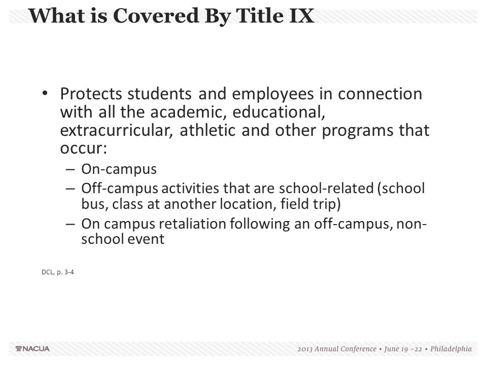 What is Covered By Title IX