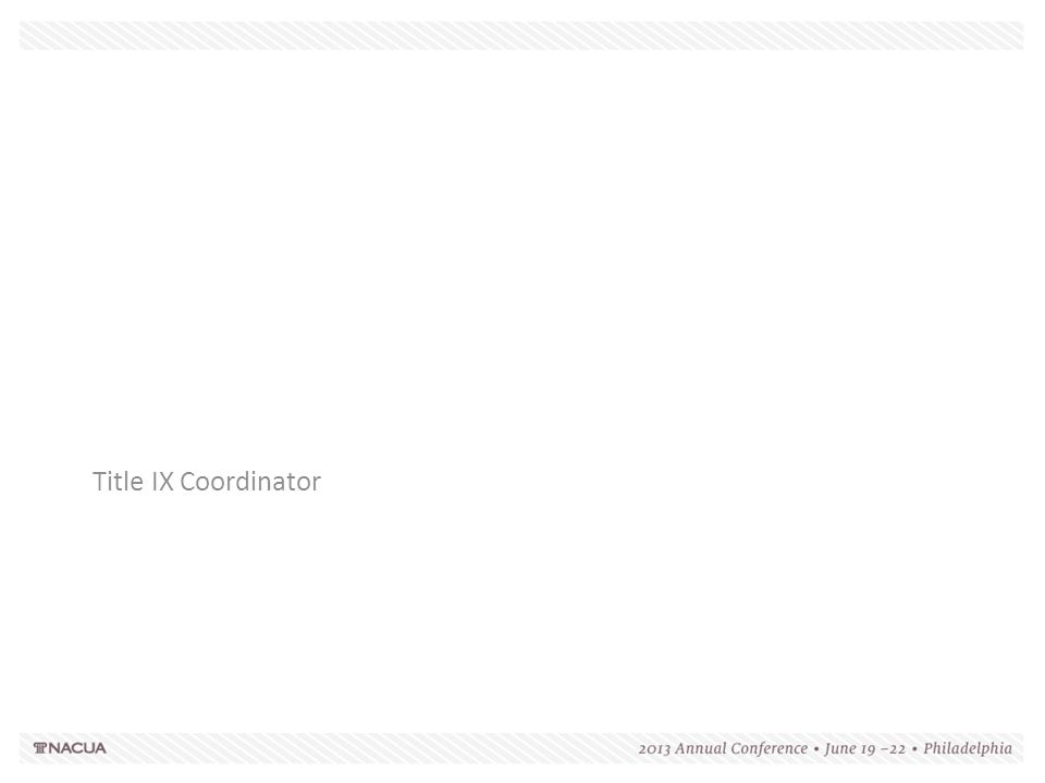 Title IX Coordinator 137