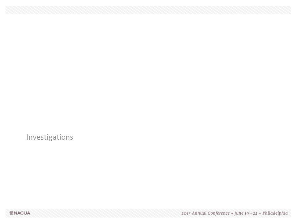 Investigations 156